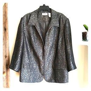 Alfred Dunner snakeskin zip front jacket 20W